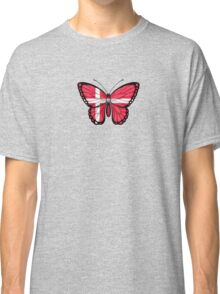 Danish Flag Butterfly Classic T-Shirt