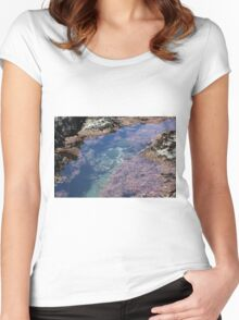Tidal Pools Women's Fitted Scoop T-Shirt