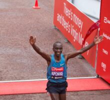 Eliud Kipchoge (KEN) Elite male winner of the Virgin money London Marathon Sticker