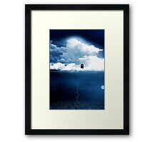 There is a man who lives on a cloud. Framed Print