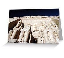 Abu Simbel Greeting Card