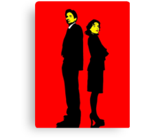 X files Scully and Mulder Canvas Print