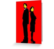 X files Scully and Mulder Greeting Card