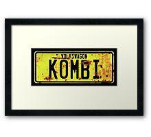 Volkswagen Kombi Plate © Framed Print