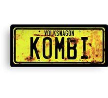 Volkswagen Kombi Plate Canvas Print