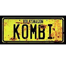 Volkswagen Kombi Plate Photographic Print