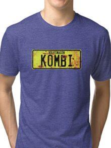 Volkswagen Kombi Plate © Tri-blend T-Shirt