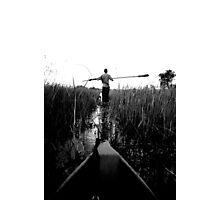 gliding through hippo tracks Photographic Print