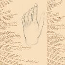 Alex's hand with poem by Bee Williamson