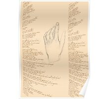 Alex's hand with poem Poster