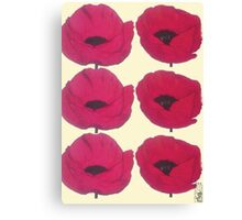 Red Poppies for Pops Canvas Print