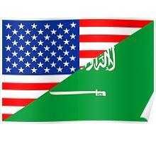 usa saudi arabia Poster