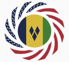 Saint Vincentian American Multinational Patriot Flag Series Kids Clothes