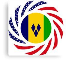 Saint Vincentian American Multinational Patriot Flag Series Canvas Print