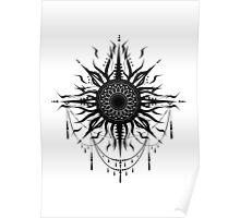 Boho sun tattoo Poster