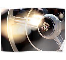 Classic Porsche Steering Wheel detail Poster