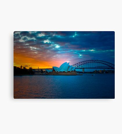 The Sydney Three - Sydney Harbour, Bridge and Opera House, Australia  Canvas Print