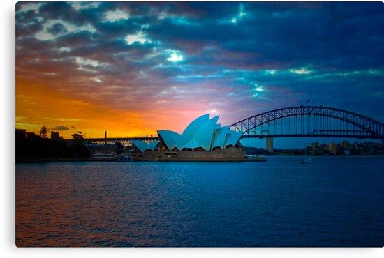 The Sydney Three - Sydney Harbour, Bridge and Opera House, Australia  by Mark Richards