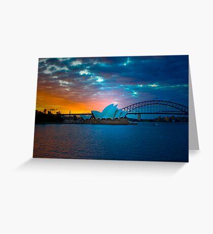 The Sydney Three - Sydney Harbour, Bridge and Opera House, Australia  Greeting Card