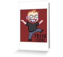 Jesse Cox Pixelated Youtube Avatar Greeting Card