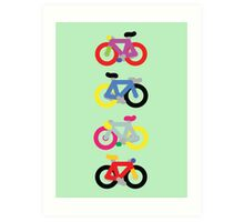 Fatty Fixie by Jeppe K Ringsted Art Print