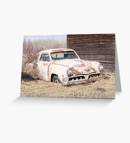 Hidden Treasure - 1953 Studebaker Coupe Greeting Card