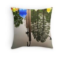 Your World Upside Down Throw Pillow