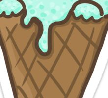 Mint Choco Chip Ice Cream Cat Sticker