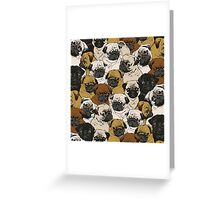 Social Pugz  Greeting Card
