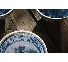 3 Rice Bowls Photographic Print
