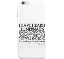 Prufrock's Mermaids iPhone Case/Skin