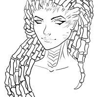 Sarah Kerrigan, the Queen of Blades (Black) by mikolsik