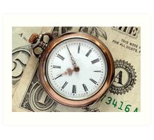 Time and Money Art Print
