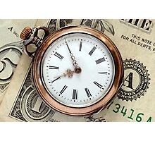 Time and Money Photographic Print
