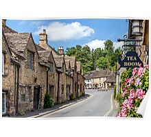 Tea Rooms, Castle Coombe, Wiltshire Poster