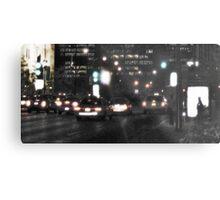 Downtown Rain Metal Print