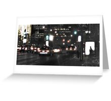 Downtown Rain Greeting Card