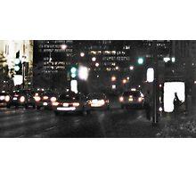 Downtown Rain Photographic Print