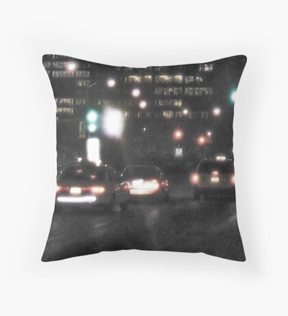 Downtown Rain Throw Pillow