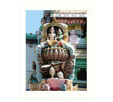 Hindu Deities, India Art Print