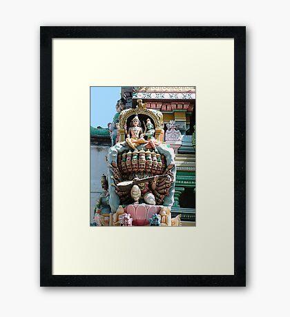 Hindu Deities, India Framed Print