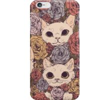 Cats and Flowers iPhone Case/Skin