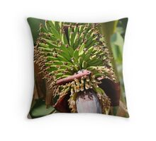 Bananas Flower Throw Pillow