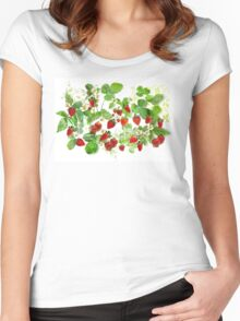 Ripe Strawberries from Provence Women's Fitted Scoop T-Shirt