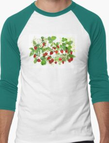 Ripe Strawberries from Provence Men's Baseball ¾ T-Shirt