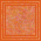 Misty Orange Cubes by Betty Mackey