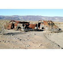 Rusty Cars In Death Valley Photographic Print