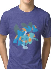 Mudkip Evolution Tri-blend T-Shirt