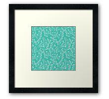 Branch pattern Framed Print