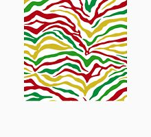 Zebra Stipes Animal Print Primary Colors Bright Green Red Yellow Yipes Stripes Unisex T-Shirt